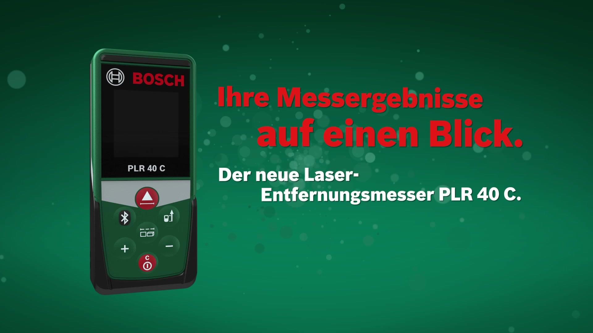 Bosch laser entfernungsmesser »plr 40 c« hagebau.de