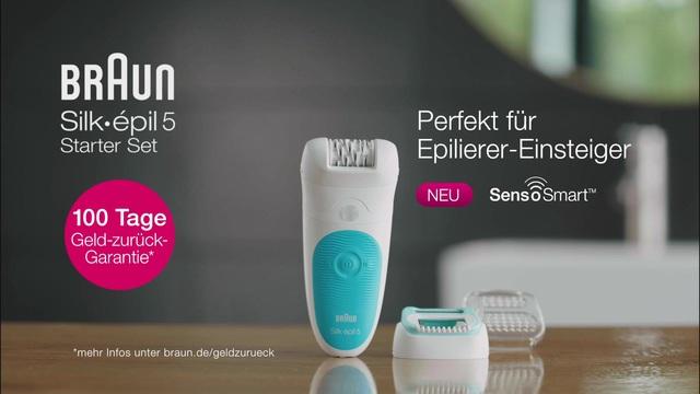 Braun - Silke épil 5 Starter Set mit SensoSmart Video 8