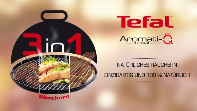 Tefal - Aromati-Q 3in1 Tischgrill (Räuchern) Video 13