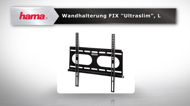 "Hama TV-Wandhalterung FIX ""Ultraslim"", 3 Sterne, L Video 3"