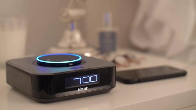 ihome iavs1 docking lautsprecher schwarz passend f r sprachassistenten amazon echo dot kaufen. Black Bedroom Furniture Sets. Home Design Ideas