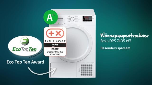 Beko - DPS 7405 W3 Wärmepumpentrockner Video 3
