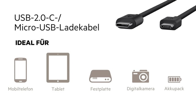 Belkin - Micro USB auf USB C Kabel Video 3