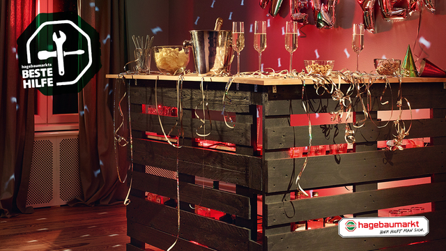 Outdoor Küche Hagebaumarkt : Mobile partybar selber bauen: do it yourselfie hagebau.de
