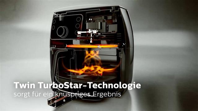 Philips Airfryer TwinStar-Technologie Video 3