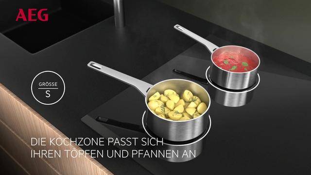 AEG - MaxiSense Induktions-Kochfelder mit anpassungsfähigen Kochzonen Video 3