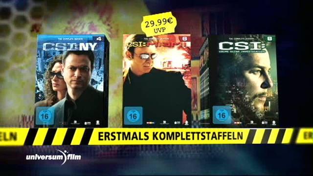 CSI - Crime Scene Investigation / CSI Miami / CSI New York / CSI Las Vegas - Komplette Staffeln Video 9