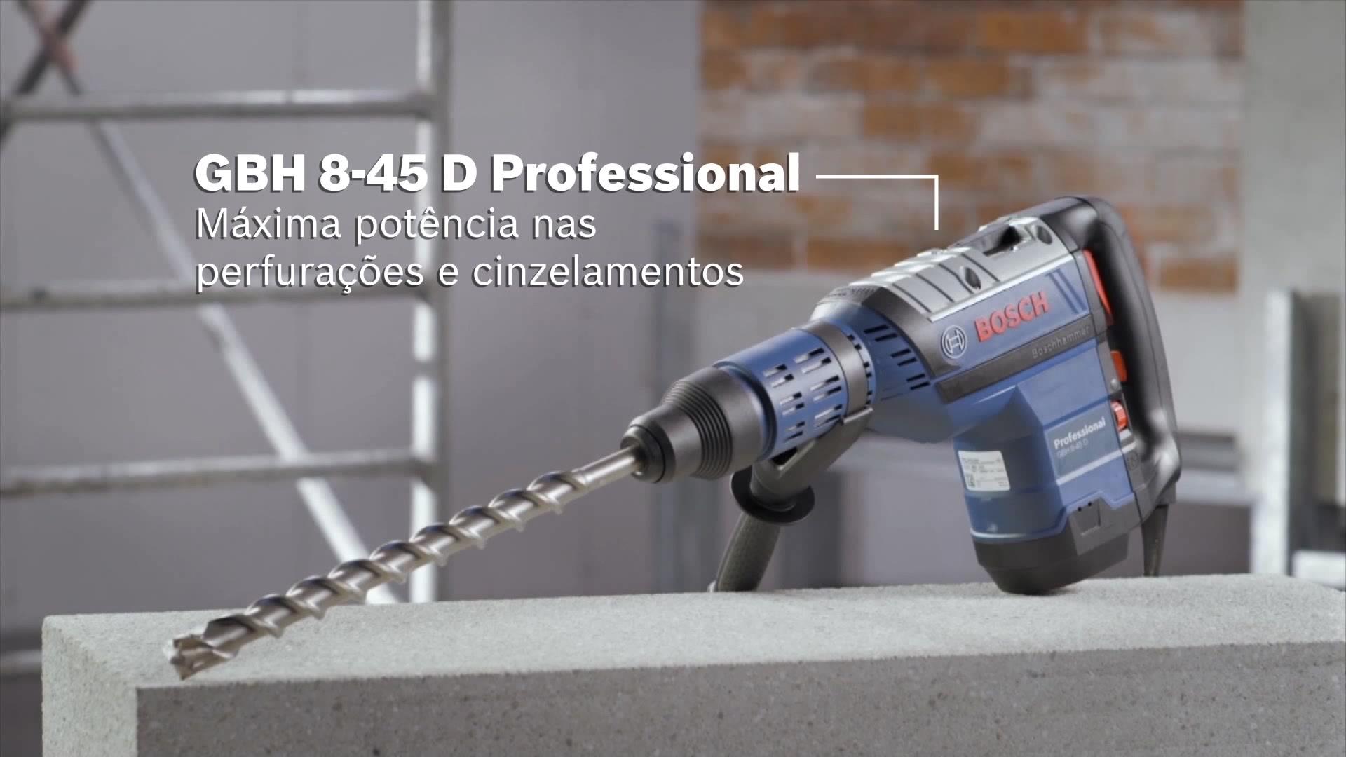 GBH 8-45 D Martelo perfurador com SDS max | Bosch Professional