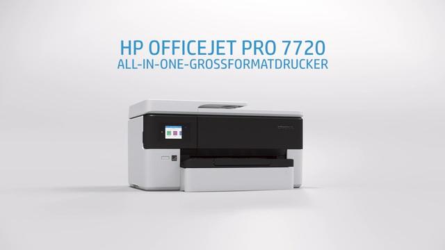 HP - Officejet Pro 7720 All-In-One Großformatdrucker Video 3