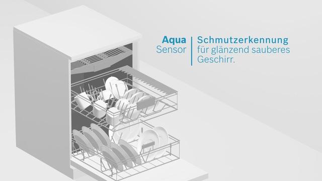Bosch - AquaSensor - Schmutzerkennung für glänzend sauberes Geschirr Video 3