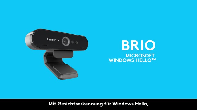 Logitech - Brio 4K Ultra HD Webcam - Facial Recognition Video 8