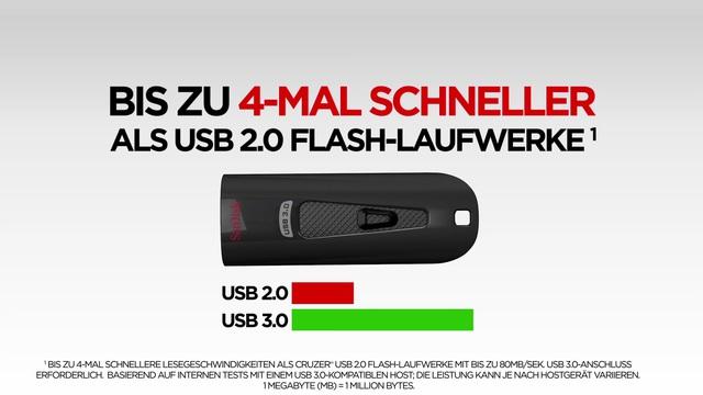 SanDisk - Ultra USB 3.0 Flash-Laufwerk Video 3